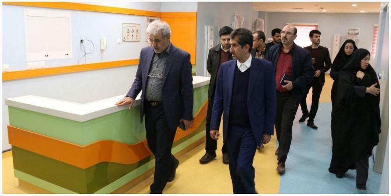 بیمارستان شهدا در منطقه نیروگاه در آستانه بهره برداری